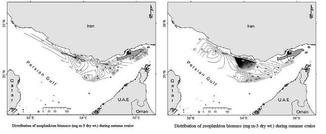 Spatial and Temporal Distribution of Zooplankton Biomass in the Northeast Persian Gulf
