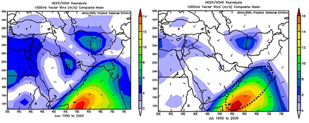 The Study of Sea Level Pressure Patterns and Wind aloft Features over the Middle East and the Persian Gulf Area during Spring Transition